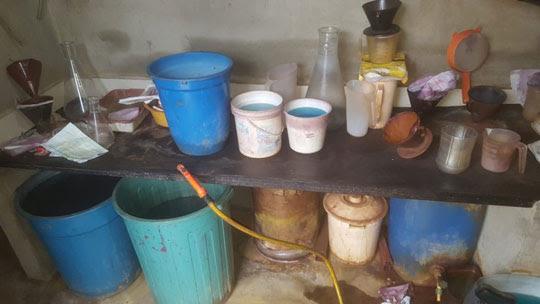 Materiais encontrados são utilizados para refinar o ouro | Foto: Divulgação/PF
