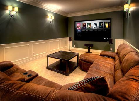 simple  sweet contemporary home theater