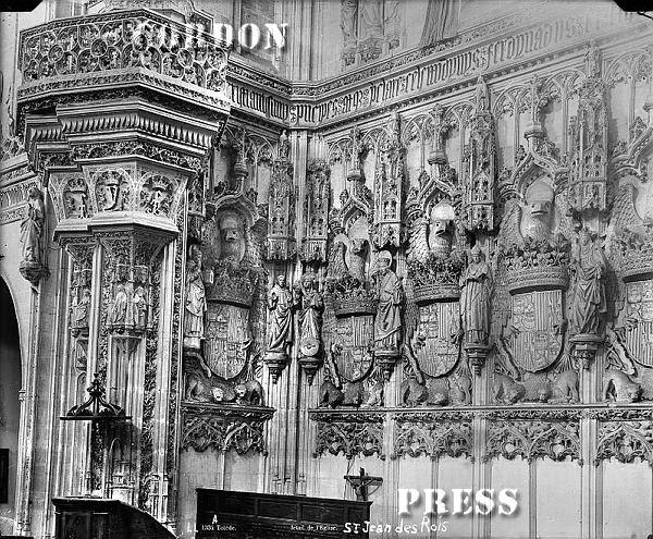 Monasterio de San Juan de los Reyes en Toledo hacia 1875-80. © Léon et Lévy / Cordon Press - Roger-Viollet
