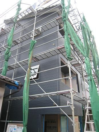 石井邸外壁施工1
