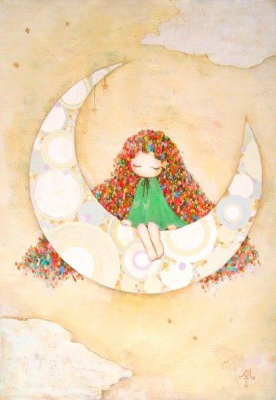 La luna #ilustracion #dibujo #infantil