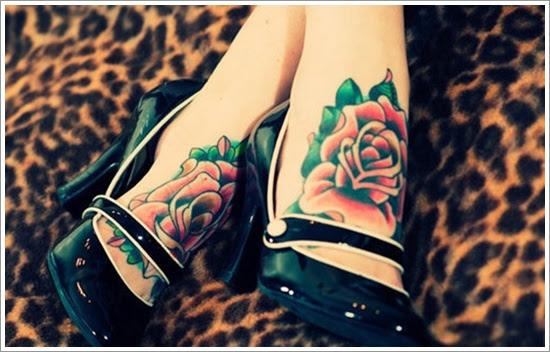 Attractive Leg Rose Tattoo Design Of Tattoosdesign Of Tattoos