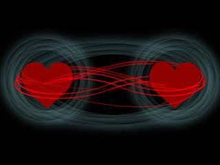 Two heart illustration