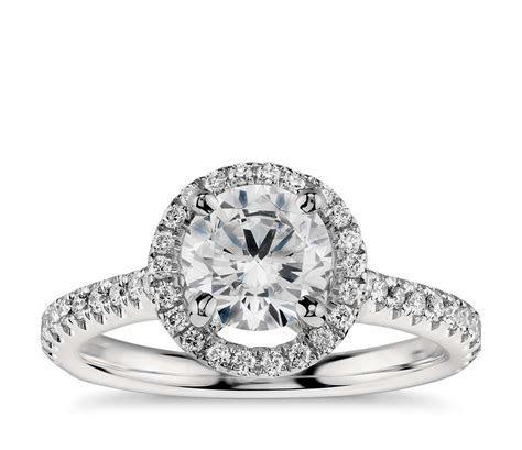 Floating Halo Diamond Engagement Ring in Platinum (1/3 ct