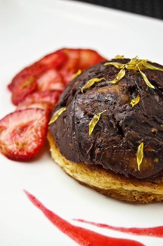 Dark chocolate dome of sweet mystery