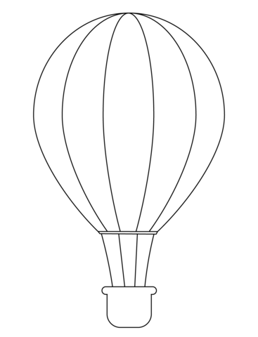 7700 Top Hot Air Balloon Coloring Pages Free Printable  Images