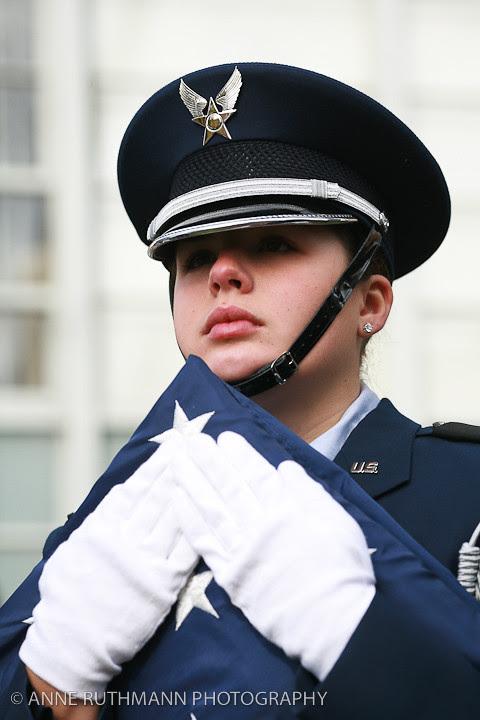 Honoring Veterans Flag Raising-10
