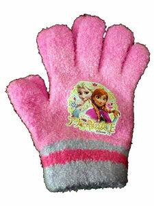 【ディズニー手袋!】アナと雪の女王★のびのび手袋[日本製]5本指フリースグローブ/手袋/子供/...