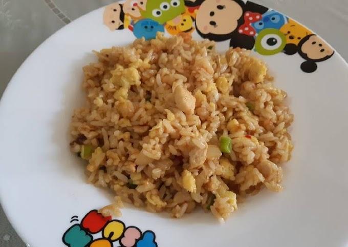 Resep Nasi goreng ayam udang Lezat