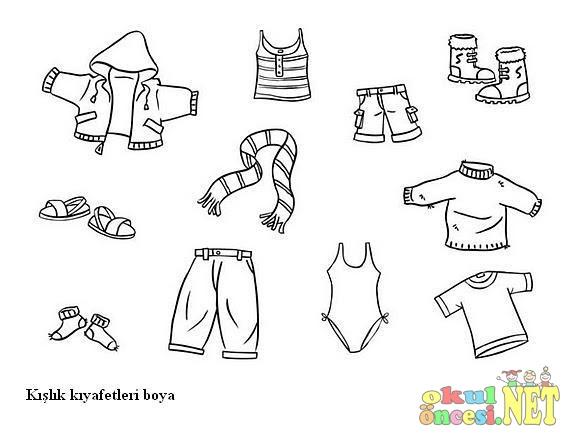 Okul öncesi Kıyafet Boyama Gazetesujin