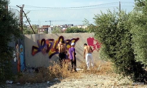 paseo por la afueras de Valdemoro: grafiteros toledanos ¿?