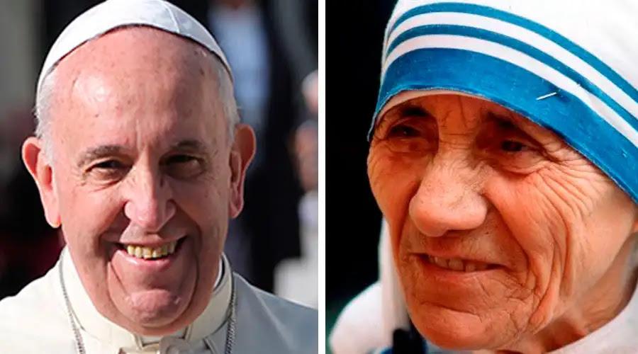 Papa Francisco. Bohumil Petrik (ACI Prensa) / Madre Teresa. Facebook