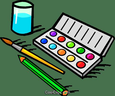 設定水彩絵の具 ロイヤリティ無料ベクタークリップアートイラスト
