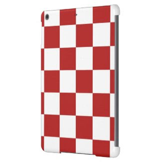 Checkered Red and White iPad Air Covers