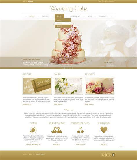 Cream Wedding Cake Joomla Template #44444