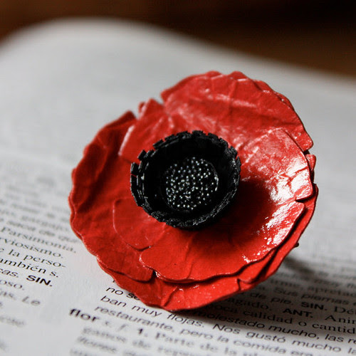 Handmade Poppy Ring