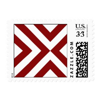 Red and White Chevrons Stamp