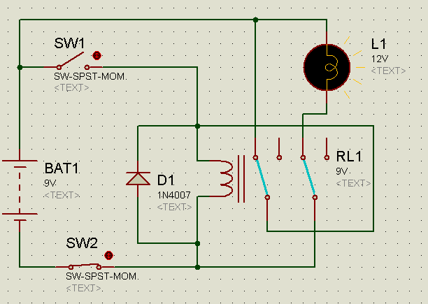 Simulation of relay latching