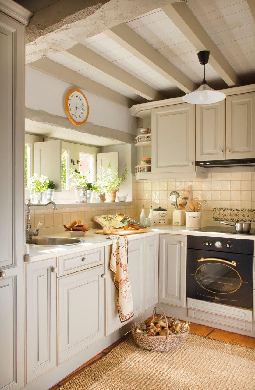 """de madera en L. Mini cocina en forma de """"L"""""""