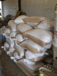2012 Wheat Crop Stored in Sacks in the Barn