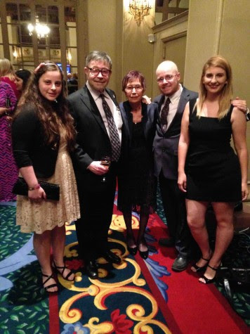 Editor-in-Chief Ilana Gale, Dr. Judea Pearl, Ruth Pearl, Former Online Editor-in-Chief Christopher Bower and Former Print Editor-in-Chief Natalie Moore were talking with each other before the awards dinner began.