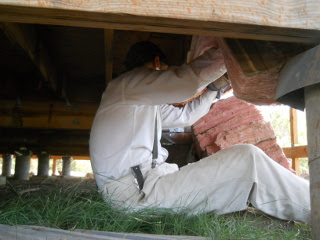 House Floor Installing Insulation