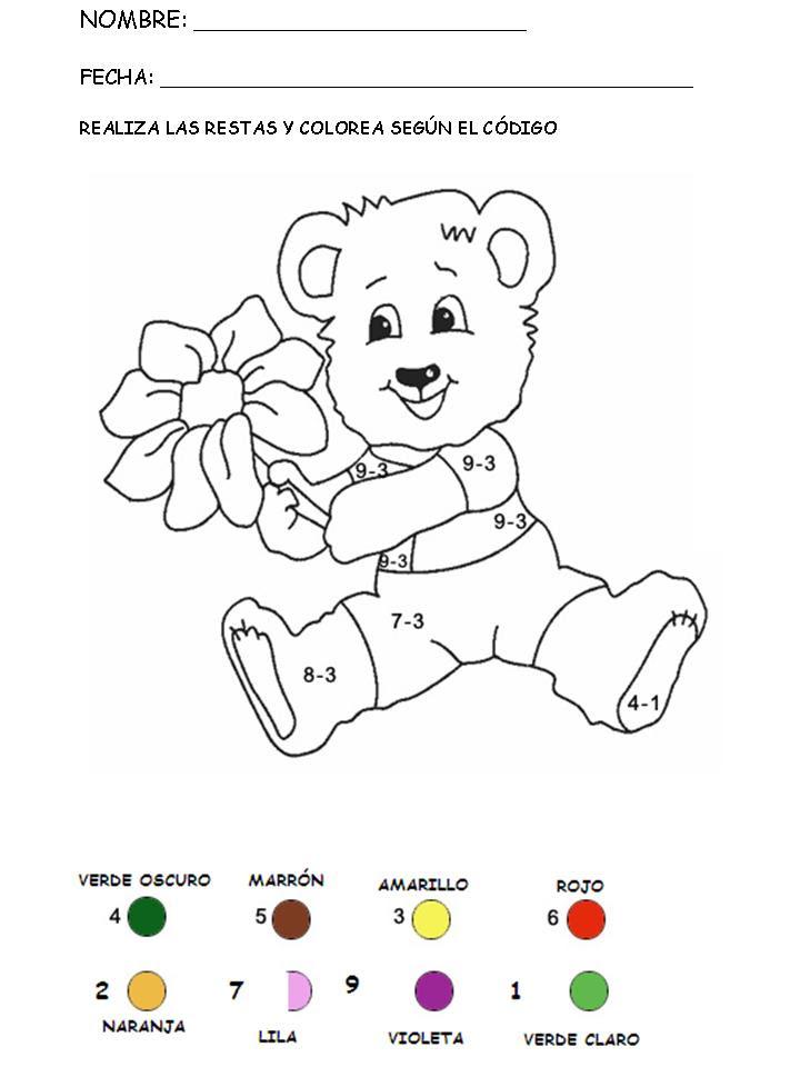 Aprender A Restar Coloreando
