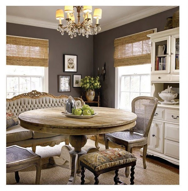 brown decor dining eclectic e1287160779161 How to Bring Earth Inspiring Brown into your Home