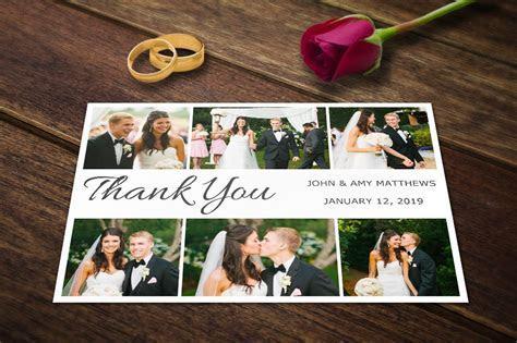 Wedding Thank you Card Templates PSD ~ Wedding Templates
