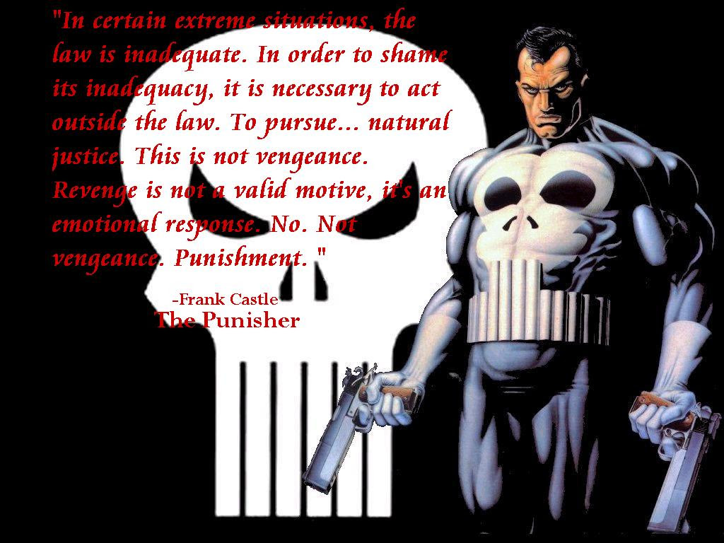 Wallpaper The Punisher Quotes
