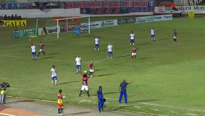 Guarany de Sobral x Fortaleza Campeonato Cearense Junco (Foto: Reprodução/TV Verdes Mares)