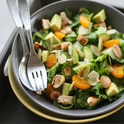 Grilled Chicken Salad with Mandarin Oranges, Avocado and Almonds: a few simple techniques make this simple salad really special