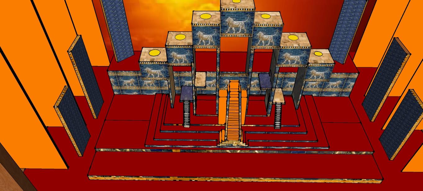 Render de escena babilónica © Victor García Sierra