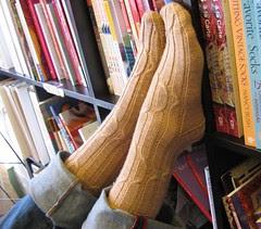 Freshman Cabled Socks