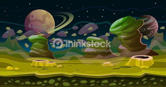 ファンタジー空間のシームレスなゲーム風景です科学フィクションのテーマ