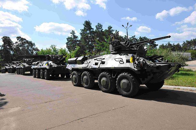 El 25 de junio de 2014, la oferta de la próxima tanda de cinco vehículos de BTR-3E vehículos blindados de transporte de personal para las necesidades de la Guardia Nacional de Ucrania se llevó a cabo en la Planta de Armored Kyiv, que es un antiguo miembro de la empresa de Preocupación Ukroboronprom Estado. Este es el segundo lote de vehículos blindados de transporte de personal de esa clase, que se suministran a la Guardia Nacional. En total 11 vehículos se han transferido hasta ahora.