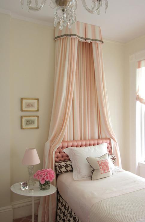 Pink Bed Canopy, Transitional, girl's room, Philip Gorrivan Design
