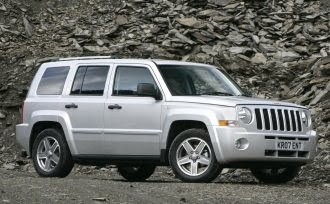 Jeep Patriot in a quarry