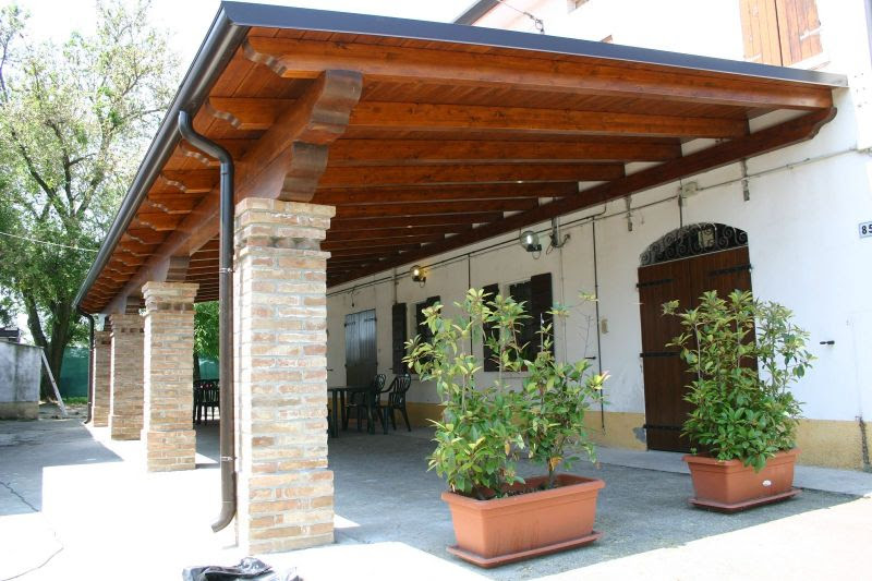 Tetto caldo praticabile tettoia in legno prezzi