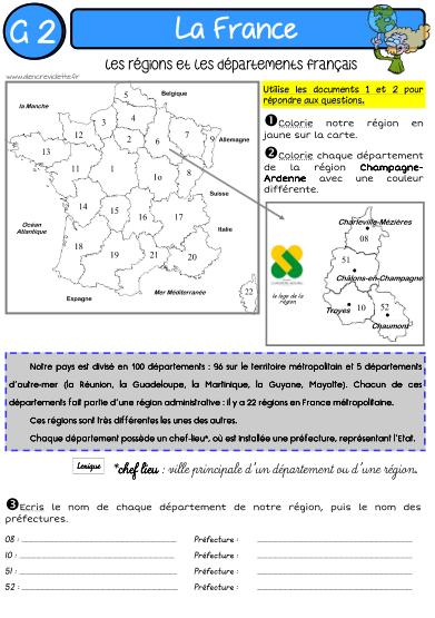GEOGRAPHIE : LA FRANCE