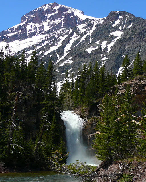 P1120702_2 Running Eagle Falls, Late May, Glacier National Park