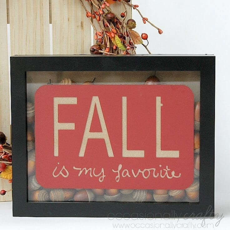 Fall Acorn Shadowbox Decor