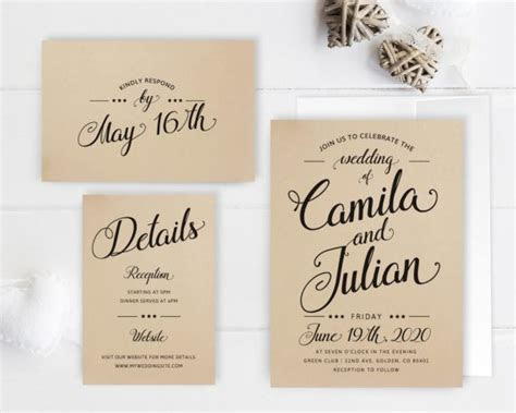 Cheap Wedding Invitations with RSVP   Under $2 or less