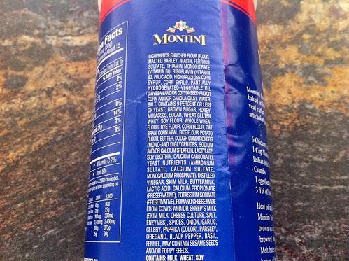 Ingredient List for Italian Bread Crumbs