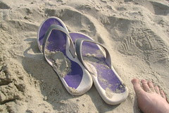 Purple Nike Flip Flops