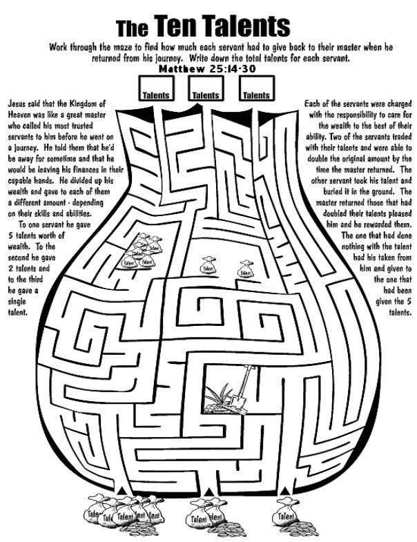Gelijkenis van de talenten doolhof // Parable of the talents maze