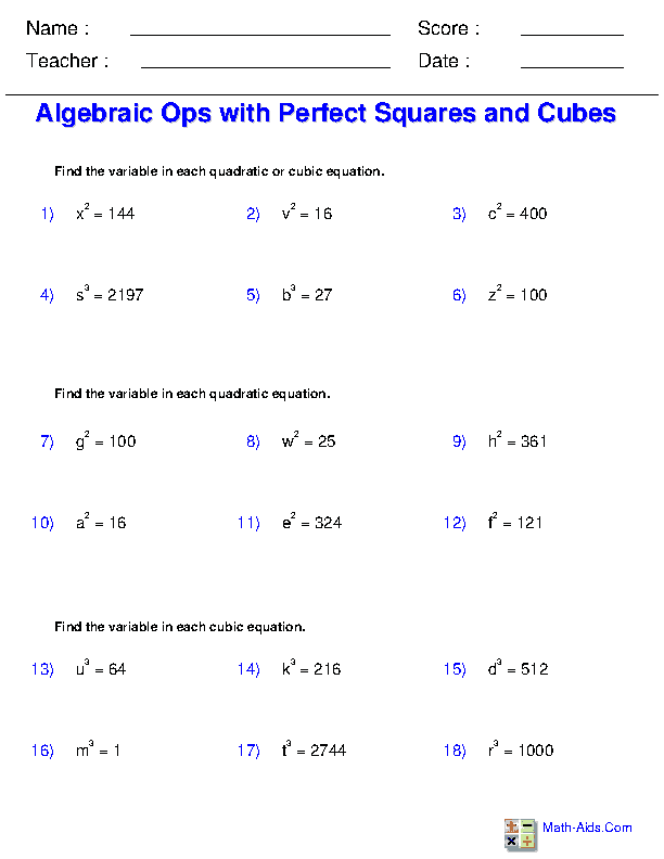 Exponents And Radicals Worksheets Exponents Radicals Worksheets