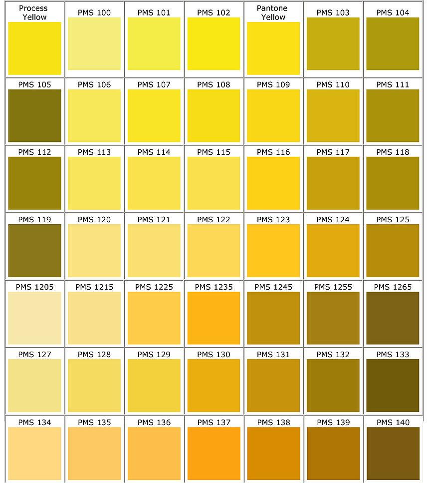 Pantone Colors Yellow Xl 1