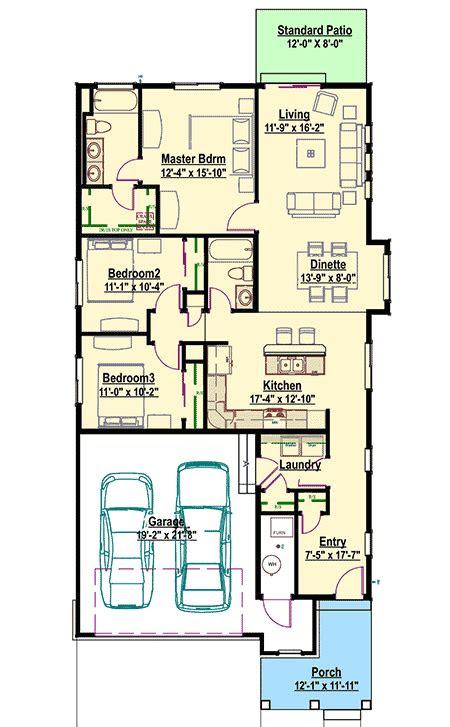 narrow lot bungalow sc architectural designs