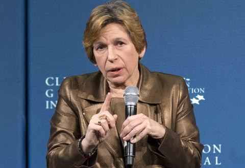 Randi Weingarten, president of the American Federation of Teachers, which demanded that Pearson halt its student social media monitoring.